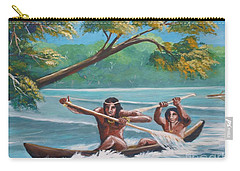 Locals Rowing In The Amazon River Carry-all Pouch