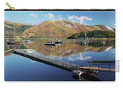 Loch Leven  Jetty And Boats Carry-all Pouch by Grant Glendinning