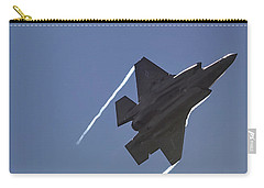 Carry-all Pouch featuring the photograph Lockheed Martin F-35b Lightning II by Shirley Mitchell