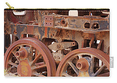 Locomotive In The Desert Carry-all Pouch by Aidan Moran