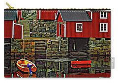 Lofoten Fishing Huts Carry-all Pouch