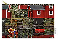 Lofoten Fishing Huts Carry-all Pouch by Steve Harrington