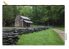 Log Cabin Carry-all Pouch by David Cote