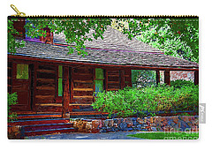 Log Cabin Front Porch Carry-all Pouch