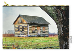 Carry-all Pouch featuring the photograph Log Cabin - Paradise Springs - Kettle Moraine State Forest by Jennifer Rondinelli Reilly - Fine Art Photography