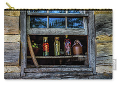 Carry-all Pouch featuring the photograph Log Cabin Window by Paul Freidlund