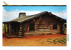 Log Cabin Yr 1800 Carry-all Pouch by Joseph Frank Baraba