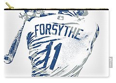 Logan Forsythe Los Angeles Dodgers Pixel Art 1 Carry-all Pouch