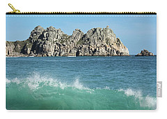 Carry-all Pouch featuring the photograph Logan Rock Porthcurno Cornwall by Terri Waters