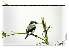 Loggerhead Shrike And Mantis Carry-all Pouch by Robert Frederick