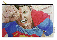 Carry-all Pouch featuring the drawing Lois' Death by Michael McKenzie