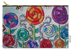 Carry-all Pouch featuring the drawing Lollipop Garden by Megan Walsh