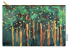 Carry-all Pouch featuring the painting Lollipop Trees by Valerie Anne Kelly