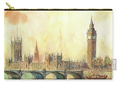 London Big Ben And Thames River Carry-all Pouch