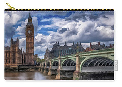Carry-all Pouch featuring the painting London Big Ben by David Dehner