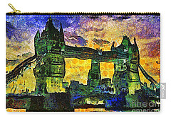 Carry-all Pouch featuring the digital art London Bridge by Ian Mitchell