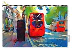 London Bus Stop Carry-all Pouch