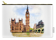 London Calling Carry-all Pouch by Marian Voicu