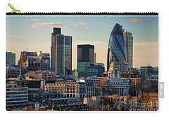Carry-all Pouch featuring the photograph London City Of Contrasts by Lois Bryan