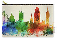 London England Skyline Panorama Gblo-pa02 Carry-all Pouch by Aged Pixel