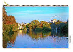 London Eye And Palace Carry-all Pouch by Haleh Mahbod