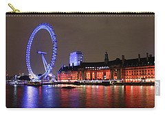 Carry-all Pouch featuring the photograph London Eye By Night by RKAB Works