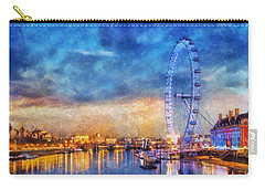 Carry-all Pouch featuring the photograph London Eye by Ian Mitchell