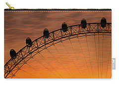 London Eye Sunset Carry-all Pouch by Martin Newman