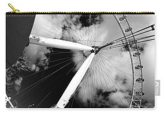 London Ferris Wheel Bw Carry-all Pouch