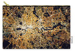 Carry-all Pouch featuring the photograph London From Space by Delphimages Photo Creations