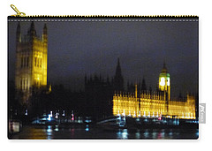 Carry-all Pouch featuring the photograph London Late Night by Christin Brodie