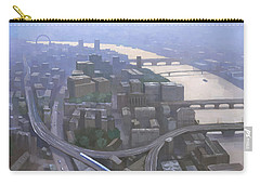 London, Looking West From The Shard Carry-all Pouch by Steve Mitchell