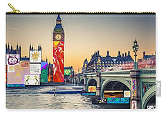 London Skyline Collage 3 Inc Big Ben, Westminster  Carry-all Pouch