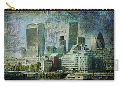London Skyline Key Of Blue Carry-all Pouch