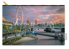 London Skyline Sunset Carry-all Pouch by James Udall