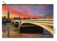 London Sunset Carry-all Pouch by Adrian Evans