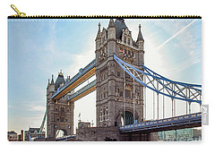 Carry-all Pouch featuring the photograph London - The Majestic Tower Bridge by Hannes Cmarits