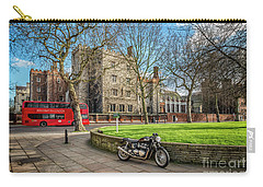 Carry-all Pouch featuring the photograph London Transport by Adrian Evans