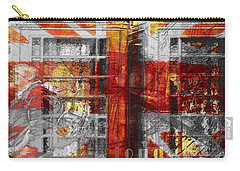 Carry-all Pouch featuring the digital art London's Calling  by Fine Art By Andrew David