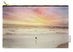 Lone Bird At Sunset Carry-all Pouch