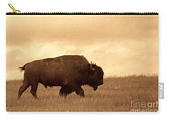Lone Bison  Carry-all Pouch by American West Legend By Olivier Le Queinec