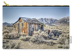 Carry-all Pouch featuring the photograph Lone Cabin by Charles Garcia