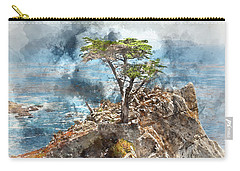 Lone Cypress In Monterey California Carry-all Pouch