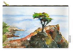Lone Cypress Pebble Beach Fog Carry-all Pouch
