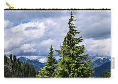 Lone Fir With Clouds Carry-all Pouch
