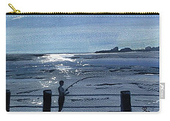 Lone Fisherman On Worthing Pier Carry-all Pouch by Carole Robins