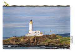 Carry-all Pouch featuring the photograph Lone Lighthouse In Scotland by Roberta Byram