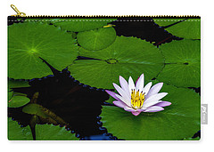 Carry-all Pouch featuring the photograph Lone Lily by Ken Frischkorn