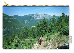 Lone Llama Packer In Gorgeous Mountain Wilderness Carry-all Pouch by Jerry Voss