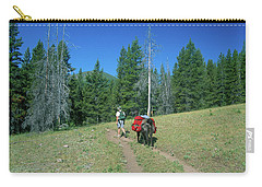 Lone Llama Packer In The Beautiful Bob Marshall Wilderness Carry-all Pouch